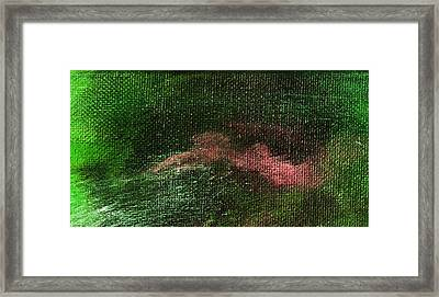 Intensity Green Pink Framed Print by L J Smith