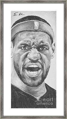 Intensity Lebron James Framed Print