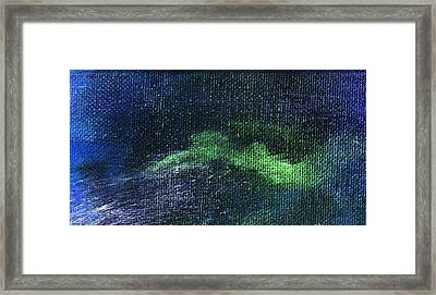 Intensity Neon Green Bolt Framed Print by L J Smith