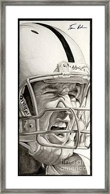 Intensity Peyton Manning Framed Print