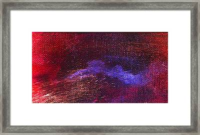 Intensity Red Hue Framed Print by L J Smith
