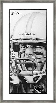 Intensity Tom Brady Framed Print