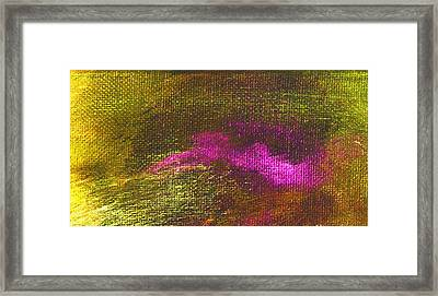 Intensity Yellow Pink Hue Framed Print by L J Smith