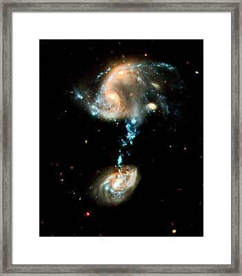 Interacting Galaxies Group Arp 194 Framed Print by Amanda Struz