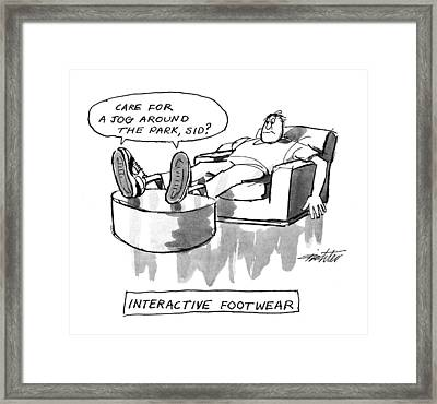 Interactive Footwear Framed Print