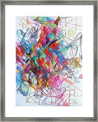 Interchange Between Ambition And Restraint 2 Framed Print by David Baruch Wolk