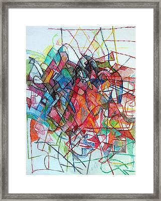 Interchange Between Ambition And Restraint 3 Framed Print by David Baruch Wolk
