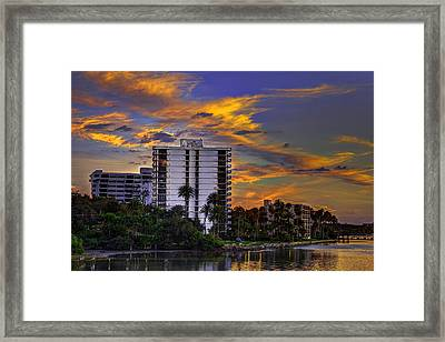 Intercoastal Sky Framed Print by Marvin Spates