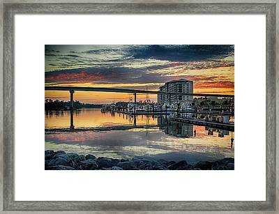 Intercoastal Waterway And The Wharf Framed Print