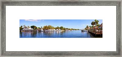 Intercoastal Waterway At West Palm Framed Print