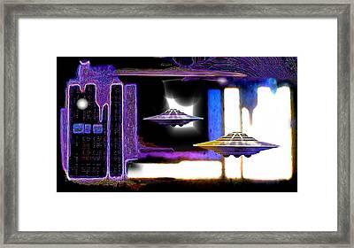 Interdimensional  Stargate Framed Print by Hartmut Jager