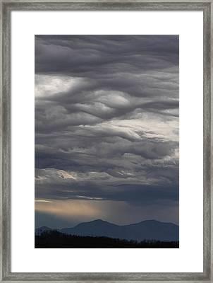 Interesting Cloud Formations Stack Framed Print