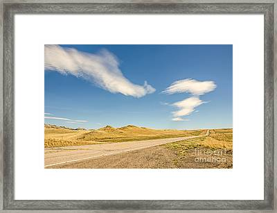 Interesting Clouds In Big Sky Country Framed Print