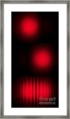 Interference Between Two Laser Beams Framed Print