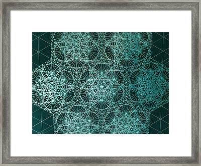 Framed Print featuring the drawing Interference by Jason Padgett