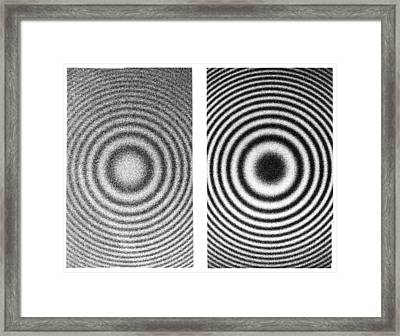 Interference Rings As Length Standards Framed Print by Science Photo Library