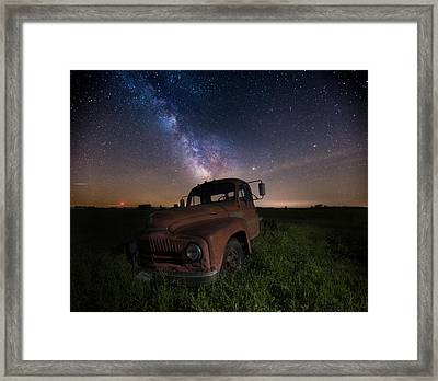 Intergalactic International Framed Print by Aaron J Groen