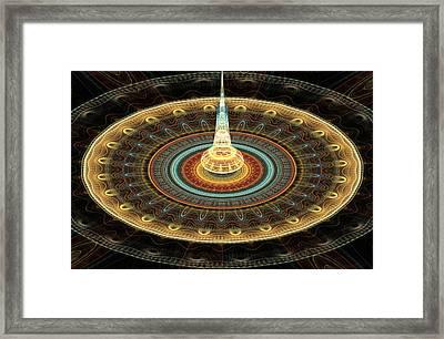 Intergalactic Transmission Framed Print