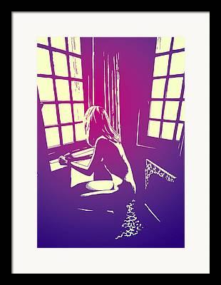 Novel Drawings Framed Prints