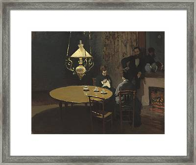 Interior After Dinner Framed Print by Claude Monet