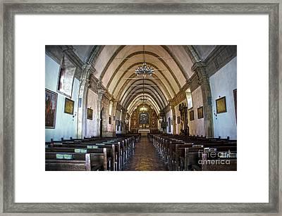Interior Basilica Carmel Mission Framed Print