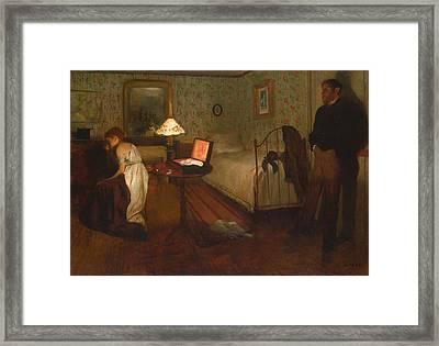 Interior By Edgar Degas Framed Print by Georgia Fowler