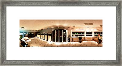 Interior Computer Room Framed Print by Panoramic Images