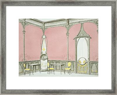 Interior Design For A Brasserie Framed Print
