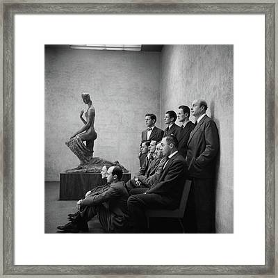 Interior Designers At Moma Framed Print by Cecil Beaton