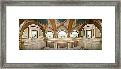 Interior Detail Of Tiffany Dome Framed Print