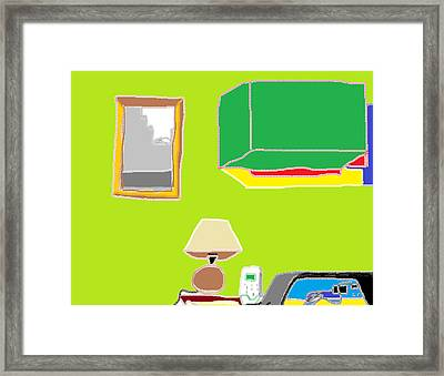 Interior Kitchen 2 Framed Print by Anita Dale Livaditis