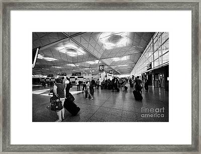 Interior London Stansted Airport Essex England Uk Framed Print by Joe Fox