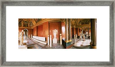 Interior Louvre Museum Greco Roman Room Framed Print by Panoramic Images