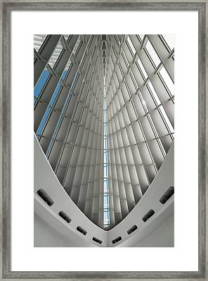 Interior Milwaukee Art Museum Framed Print by Paul Plaine