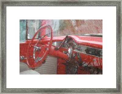 Interior Of A 1955 Masterpiece Framed Print by Kathy Peltomaa Lewis