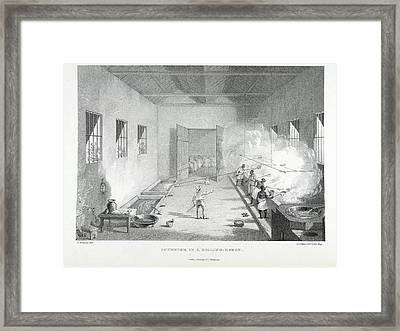 Interior Of A Boiling-house Framed Print by British Library