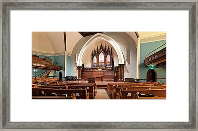 Interior Of A Church And Organ Pipes Framed Print by Panoramic Images