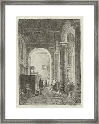 Interior Of A Church, Eberhard Cornelis Rahms Framed Print by Eberhard Cornelis Rahms