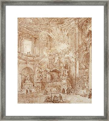 Interior Of A Church  Framed Print