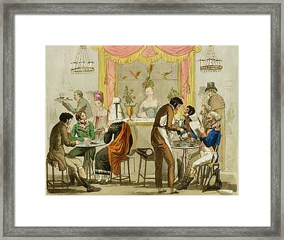 Interior Of A Coffee House, Pub Framed Print