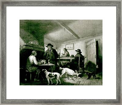 Interior Of A Country Inn Framed Print by George Morland