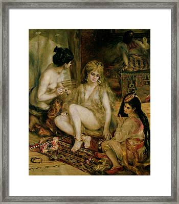 Interior Of A Harem In Montmartre, Parisian Women Dressed As Algerians, 1872 Framed Print by Pierre Auguste Renoir