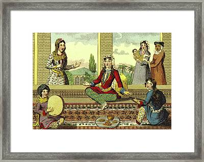 Interior Of A Harem Framed Print by Litz Collection