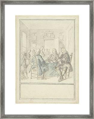 Interior Of A Mayors Room, Dionys Van Nijmegen Framed Print by Quint Lox