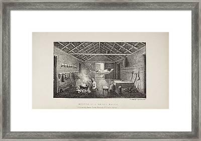 Interior Of A Negro House Framed Print