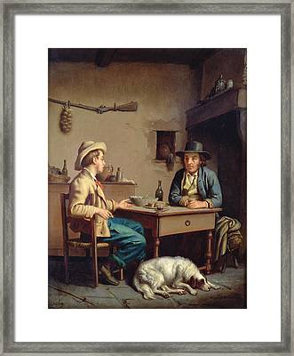 Interior Of A Peasants Cottage, C.1903  Framed Print