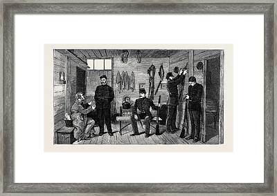 Interior Of A Police Hut At Gurranmore, Pallas Framed Print by Irish School