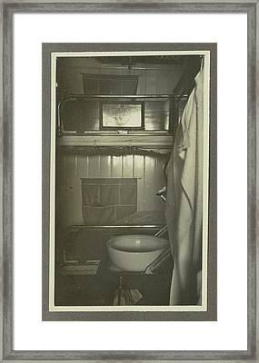 Interior Of A Ships Cabin, Anonymous,dutch Indies Framed Print