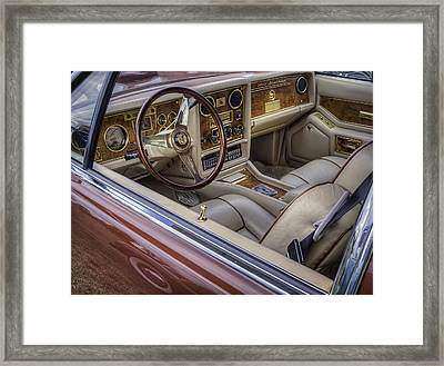 Interior Of A Stutz Blackhawk Framed Print by Thomas Young