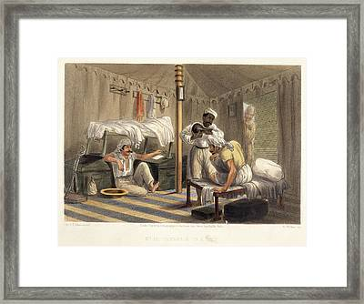 Interior Of A Tent Framed Print
